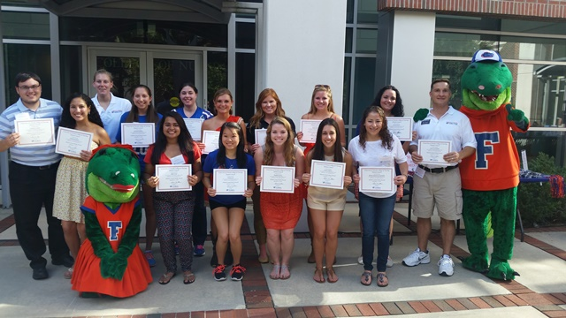 The 2014 Book Award recipients were recognized during the Alumni Reunion Tailgate in September.